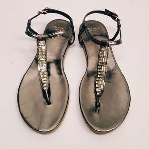 Cole haan metallic LEATHER sandals